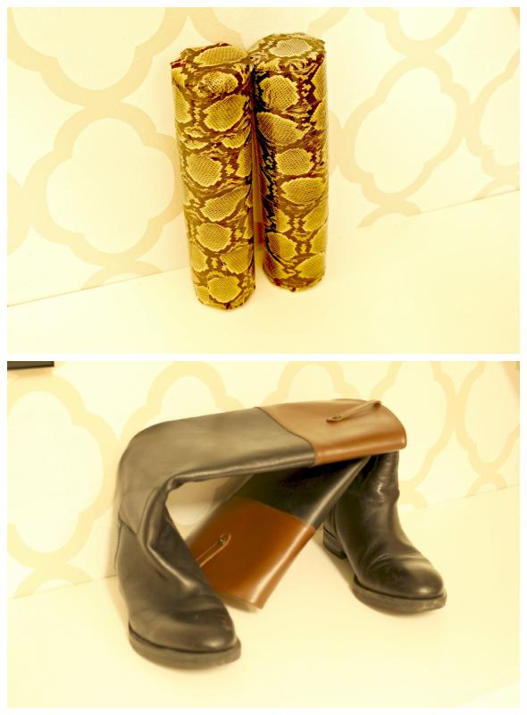 Inexpensive Boot Shapers Using Pool Noodles. A full tutorial. Lura Lumsden Blog
