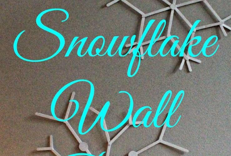 Popsicle Stick Snowflake Wall Decor