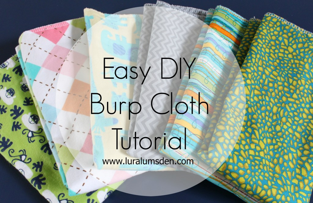 Easy DIY burp cloth made with fabric scraps and perfect for a homemade baby shower gift