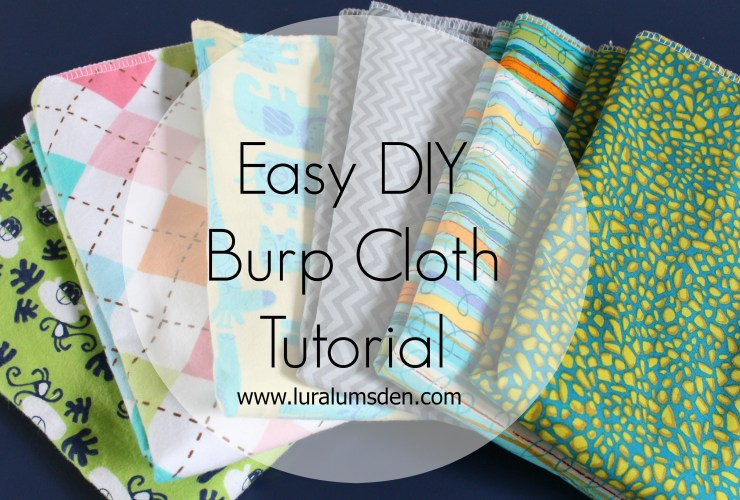 Easy DIY Burpcloth Bib Sewing Tutorial
