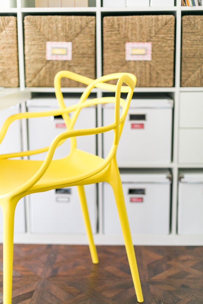 Yellow Chair Lura Lumsden Organized Craft Room Tour