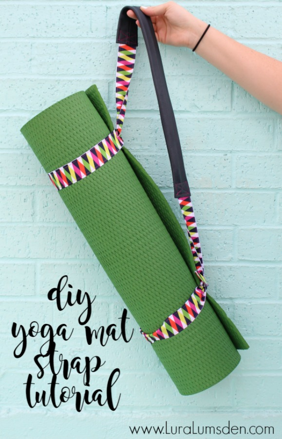 Making your own DIY Yoga Mat Strap with Ribbon and Leather