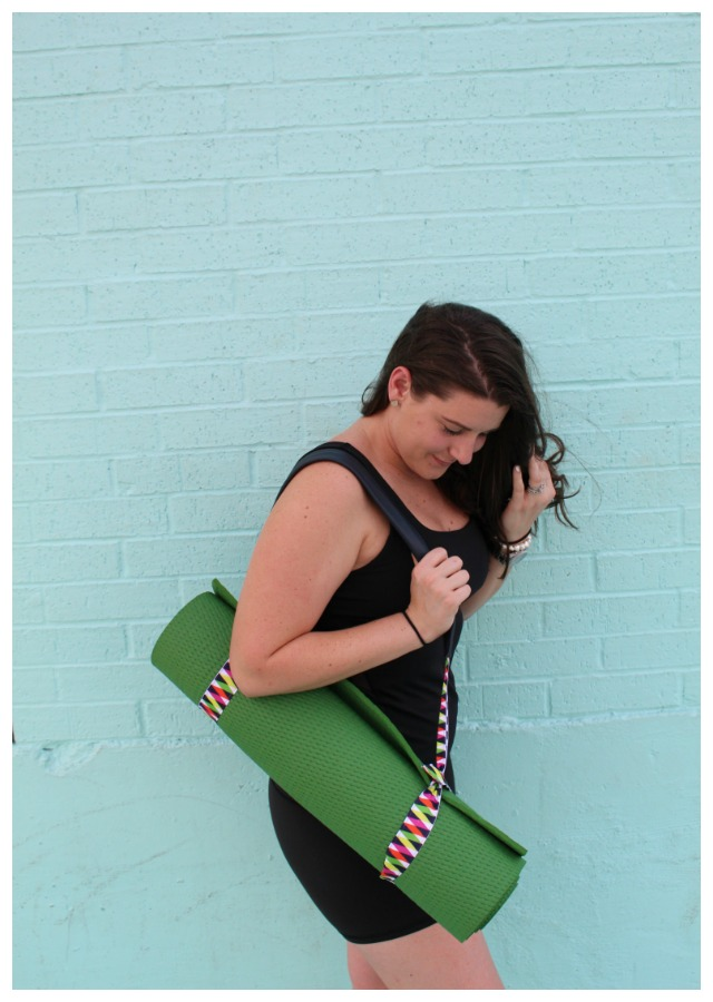 step-by-step for making a yoga strap