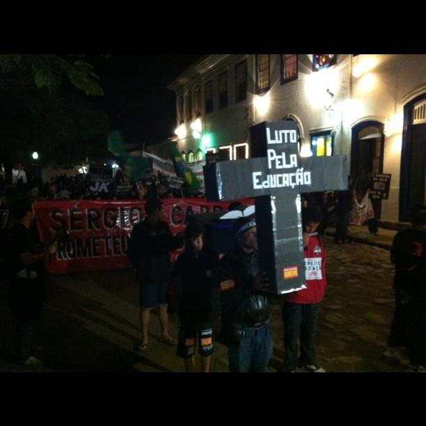 Professores do estado protestam na FLIP