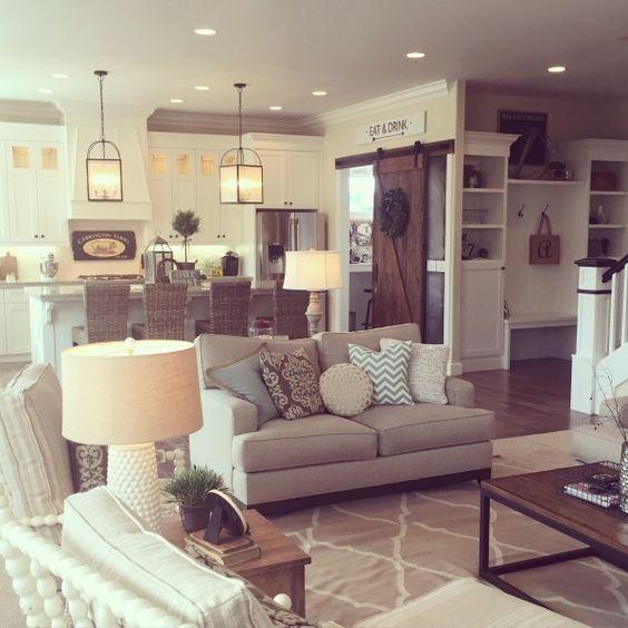 Neutral Living Room Idea for Farmhouse Style