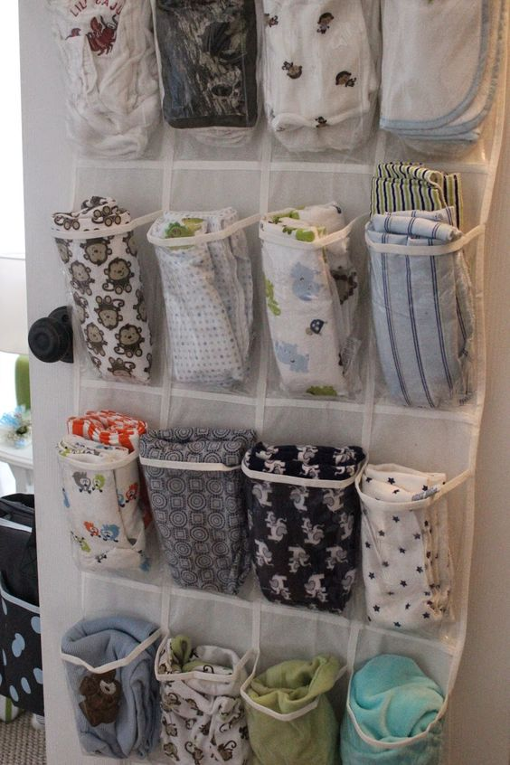 Nursery Organization - DIY Baby Blanket Holder