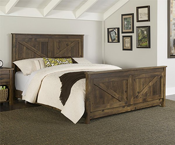 Look at this bneautiful rustic headboard set for the master bedroom!