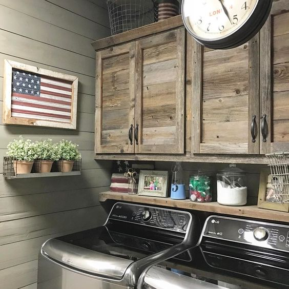 Rustic-Farmhouse-Style-Laundry-Room-Ideas