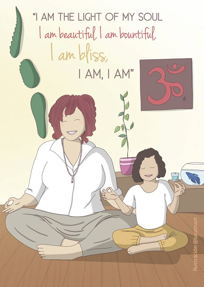 meditacion en familia