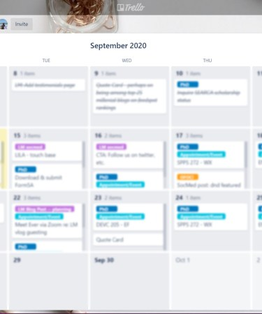 Luscious Mind recommends Trello app for productivity