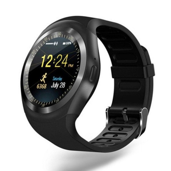 Y1 Touch Screen Pedometer Micro SIM Bluetooth Smart Wrist Watch for iOS Android Gift 1