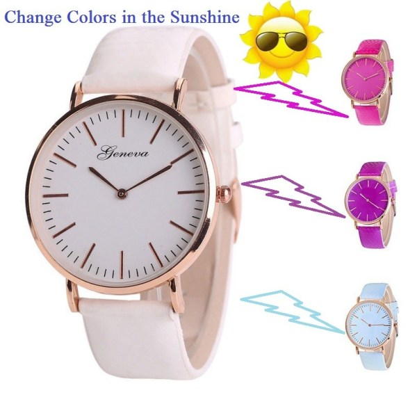 2018 signature innovative color changing watch with leather strap discolo 1