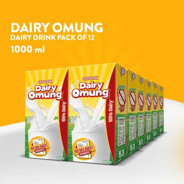 Dairy Omung Milk 1000ml Pack of 12 min