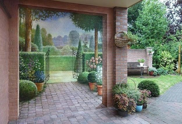 Amazing Painting Ideas For Brick Walls Creating Optical