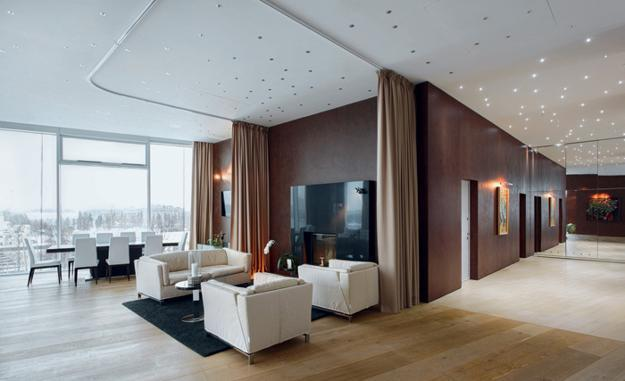 Transparent Interior Design Enhancing Modern Apartment