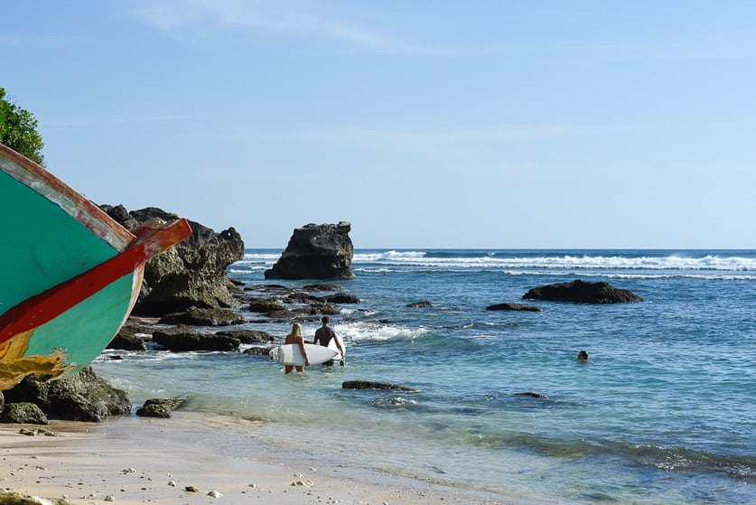 surfing uluwatu temples and secrets entrance