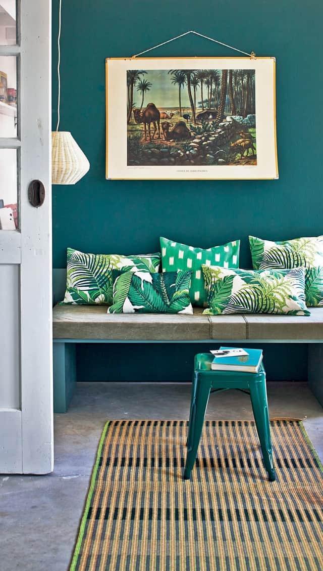 Palm Leaf Print Pillows