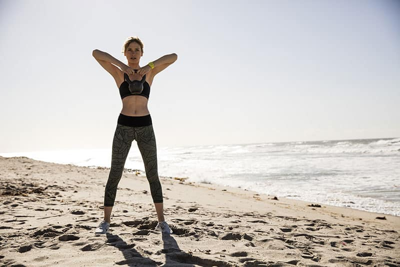 Sustainable Beach-Inspired Activewear by Vuori / women's olive palm leggings