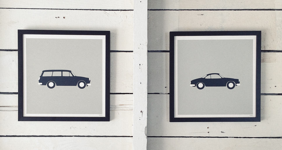 Modern coast and surf prints | Volkswagon artwork and prints | Orange & Park