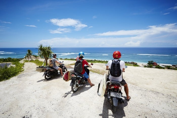 Guide to Surfing Bali | renting scooters in Bali