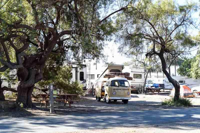beach camping in California / Refugio State Park Camping