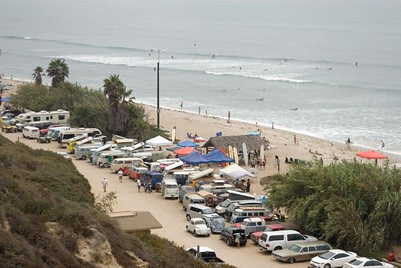 Beach camping in California / San Onofre