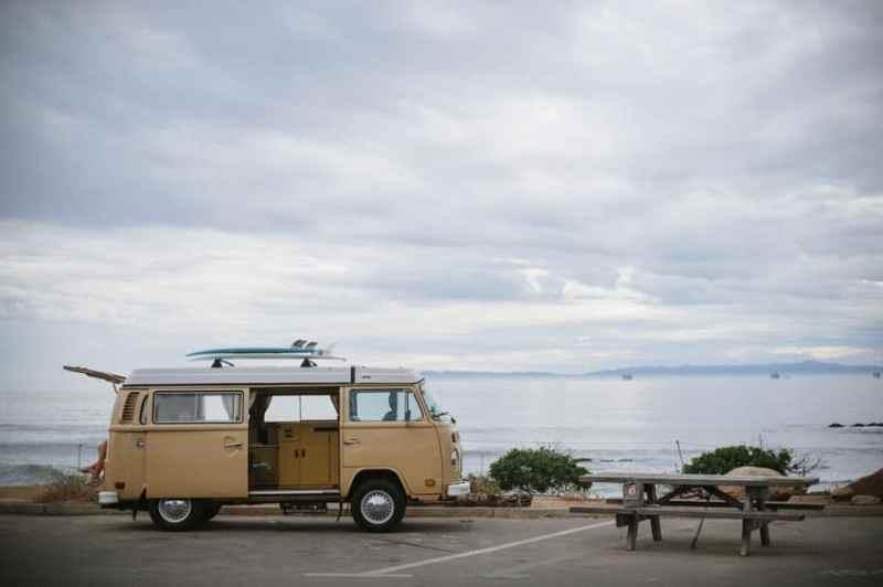 Beach camping in California / Carpenteria