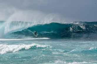 Pipeline surf, North Shore Oahu
