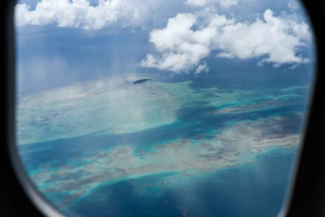 fiji from airplane