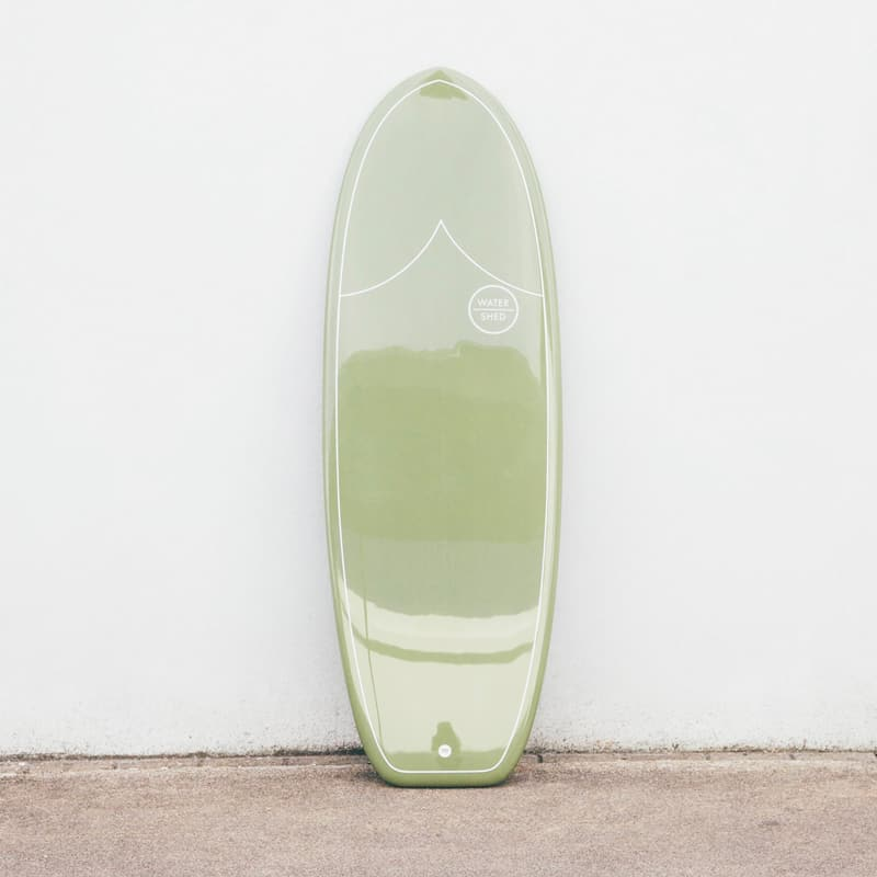 surfboard watershed surfboards green mini simmons