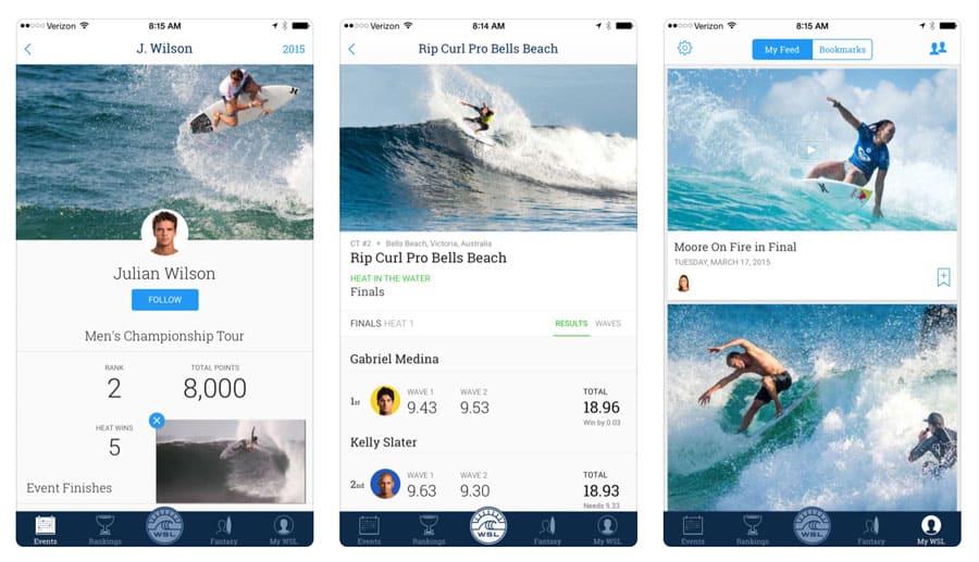 surf apps world surf league