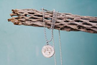 surfer necklace / St. Christopher Medal