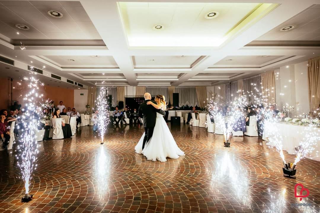 fuochi d'artificio matrimonio primo ballo sposi