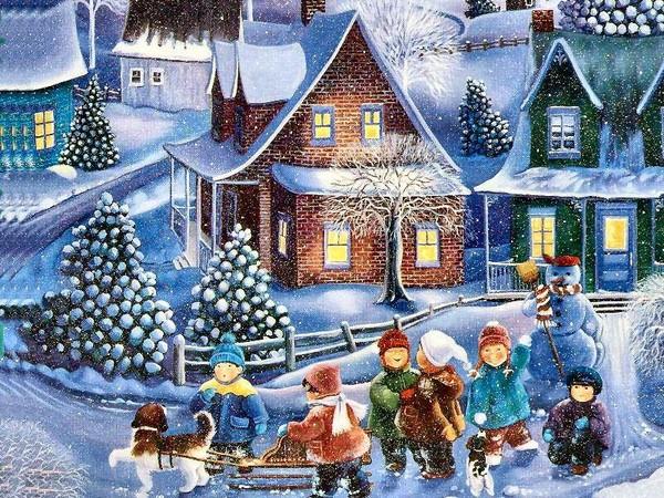 Paysages De Neige Noel En Peinture Page 5