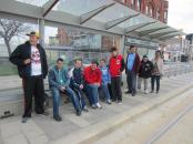 Waiting for the streetcar