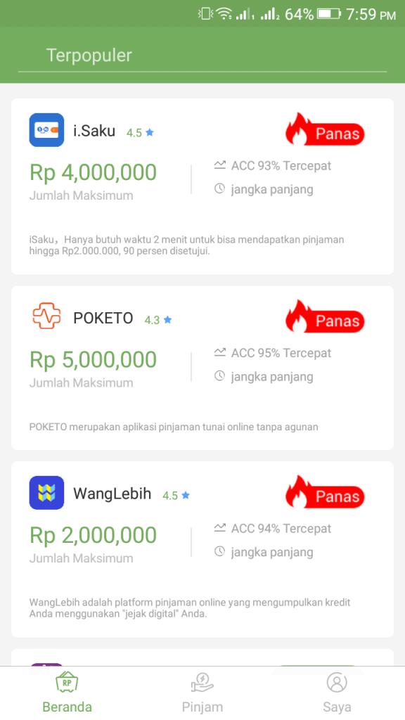 ScreenShot of Multitas Pinjaman App