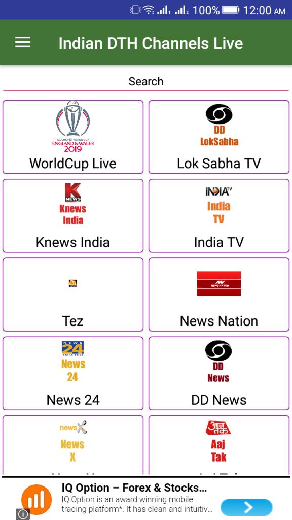 ScreenShot of DTH TV Apk