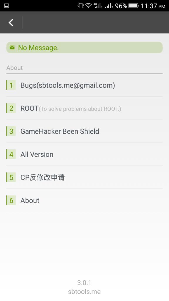 Screenshot of Game Hacker Mod App