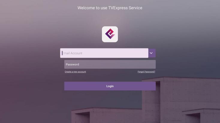 Screenshot of Tv Express App