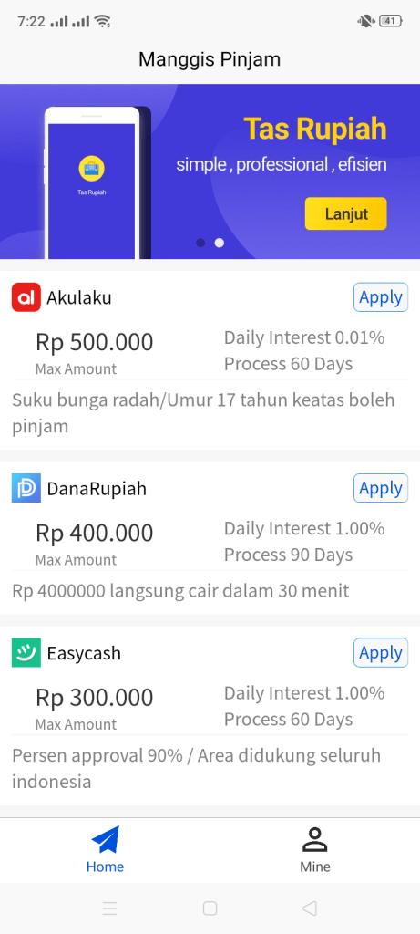 Screenshot of Manggis Pinjam Apk