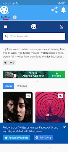ScreenShot of MyFlixer App