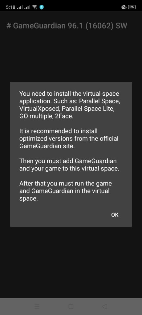 Screenshot of GameGuardian