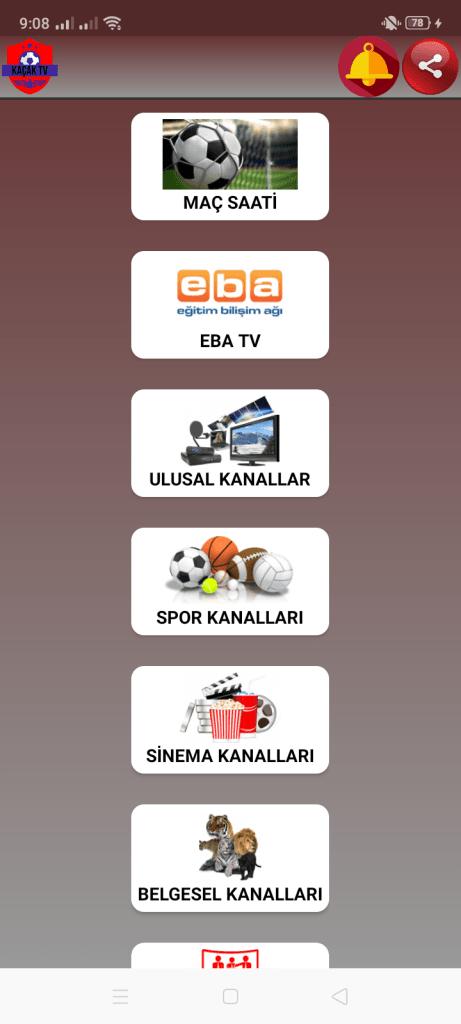 Screenshot of Kacak TV Live Apk