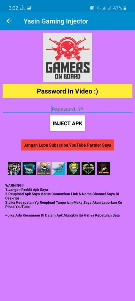 Yasin Gaming Injector Apk