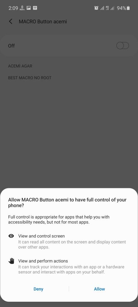Screenshot of MACRO Button For Agario