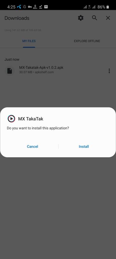 Screenshot of MX Takatak Apk