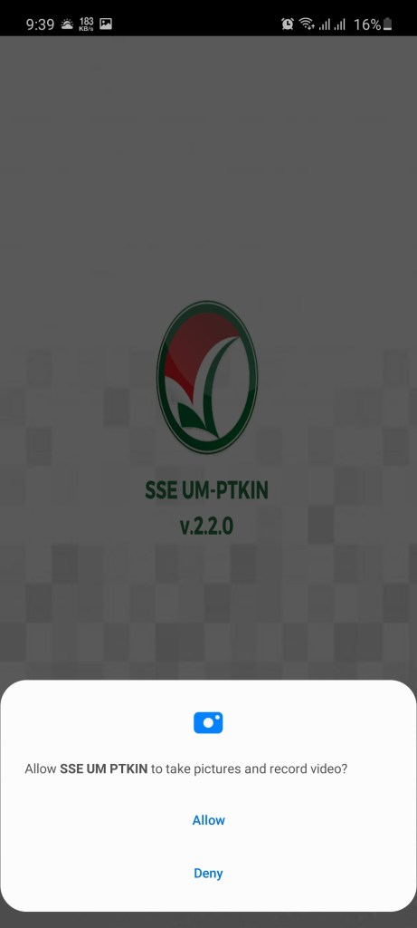 Screenshot of UMPTKIN App