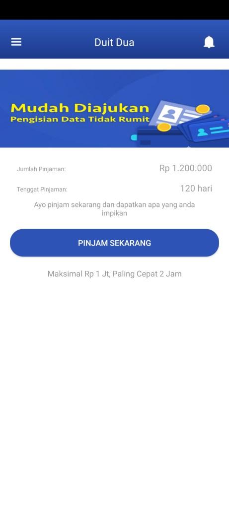 Screenshot of Duit Dua App