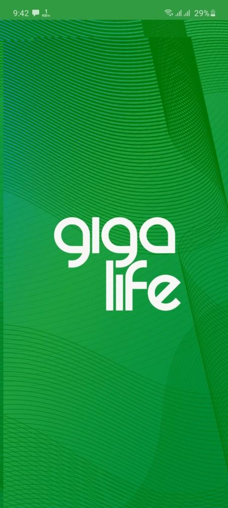 Screenshot of GigaLife