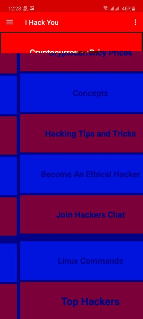 Screenshot of I Hack You